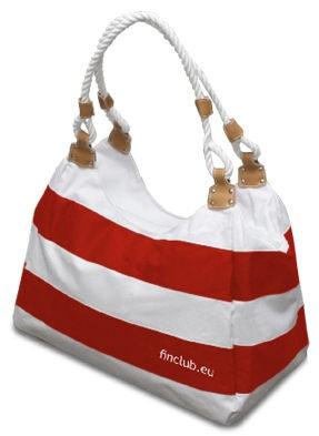 Taška plážová červeno-bílá